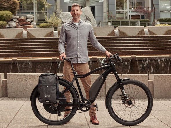 Graphite - Bike Bags - Pannier Backpack Convertible (2018) - Bicycle Laptop Bag