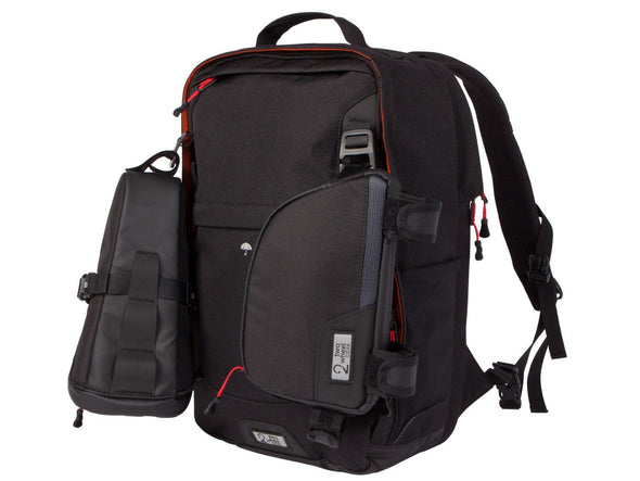 Two Wheel Gear - Pannier Backpack LITE - Black - 3 bags - Modular Attachment System (4382201774150)