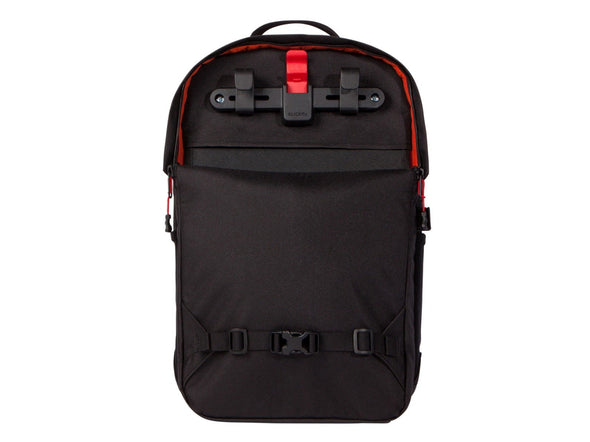 Two Wheel Gear - Pannier Backpack LITE (22 L) - Black - Back - Bike Bag KLICKfix Hooks (4382201774150)