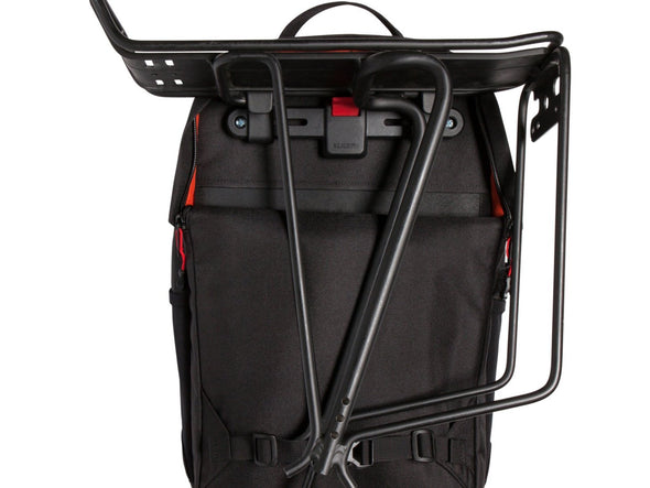 Two Wheel Gear - Pannier Backpack LITE (22 L) - Black - Front - Bike Bag Mounted on Rack (4382201774150)