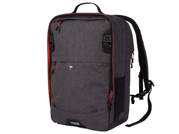 Two Wheel Gear - Pannier Backpack PLUS (30 L) - Graphite Grey - Front - Bike Bag (4382201774150)