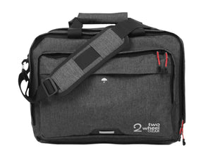 Two Wheel Gear - Pannier Briefcase Convertible 1.1 - Graphite Grey - Front (1597902520355)