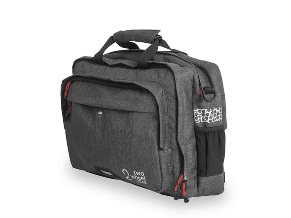 Two Wheel Gear - Pannier Briefcase Convertible 1.1 - Graphite Grey - Side Profile (1597902520355)