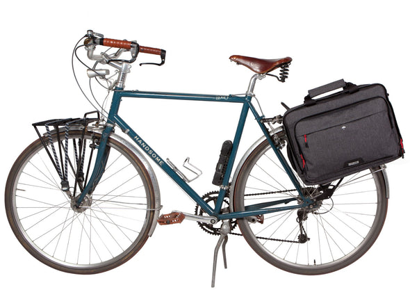 Two Wheel Gear - Pannier Laptop Messenger - Graphite Grey - On Bike Bag (4382971035718)