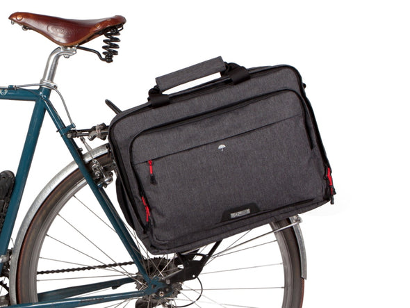 Two Wheel Gear - Pannier Laptop Messenger - Graphite Grey - On Bike (4382971035718)
