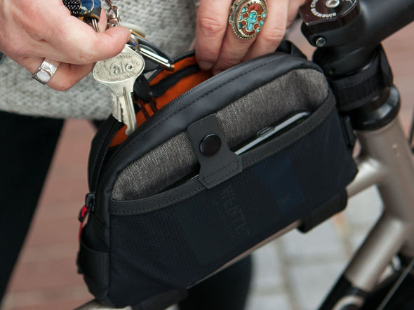 Two Wheel Gear - Top Tube Bag - Graphite Grey - Phone and Keys (4380869066822)