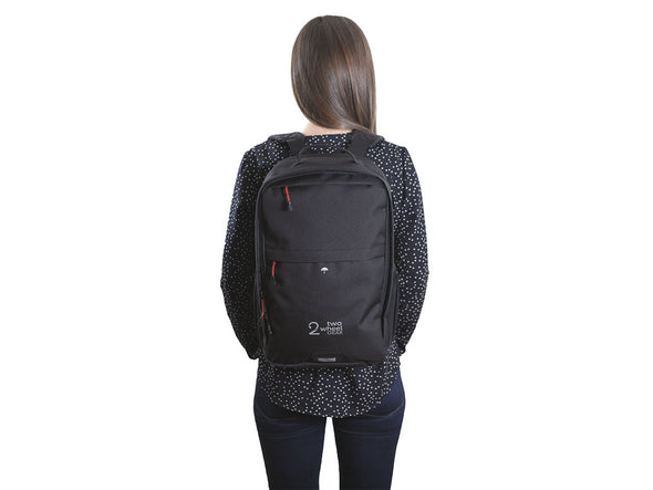 Black - Bike Bags - Pannier Backpack Convertible (2018) - Bicycle Laptop Bag - Woman