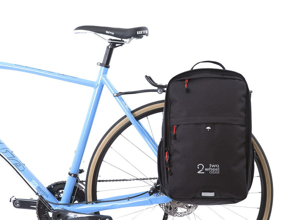Black - Bike Bags - Pannier Backpack Convertible (2018) - Bicycle Laptop Bag (600727191587)