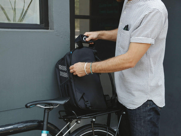 Black, Graphite - Bike Bags - Pannier Backpack Convertible (2018) - Bicycle Laptop Bag