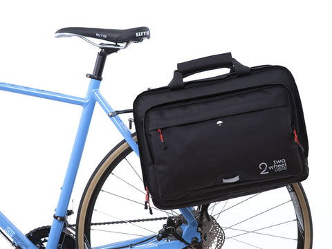 Black - Bike Bags - Pannier Briefcase Convertible (2018) - Laptop Messenger