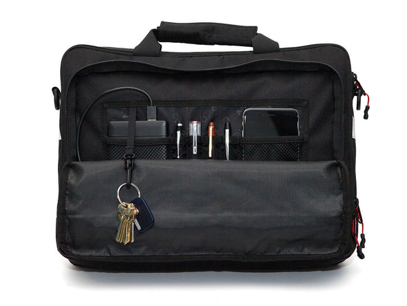Black, Graphite, Canvas - Bike Bags - Pannier Briefcase Convertible (2018) - Bicycle Laptop Messenger (600723062819)
