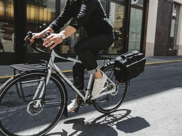 Black - Bike Bags - Pannier Briefcase Convertible (2018) - Bicycle Laptop Messenger (600723062819)