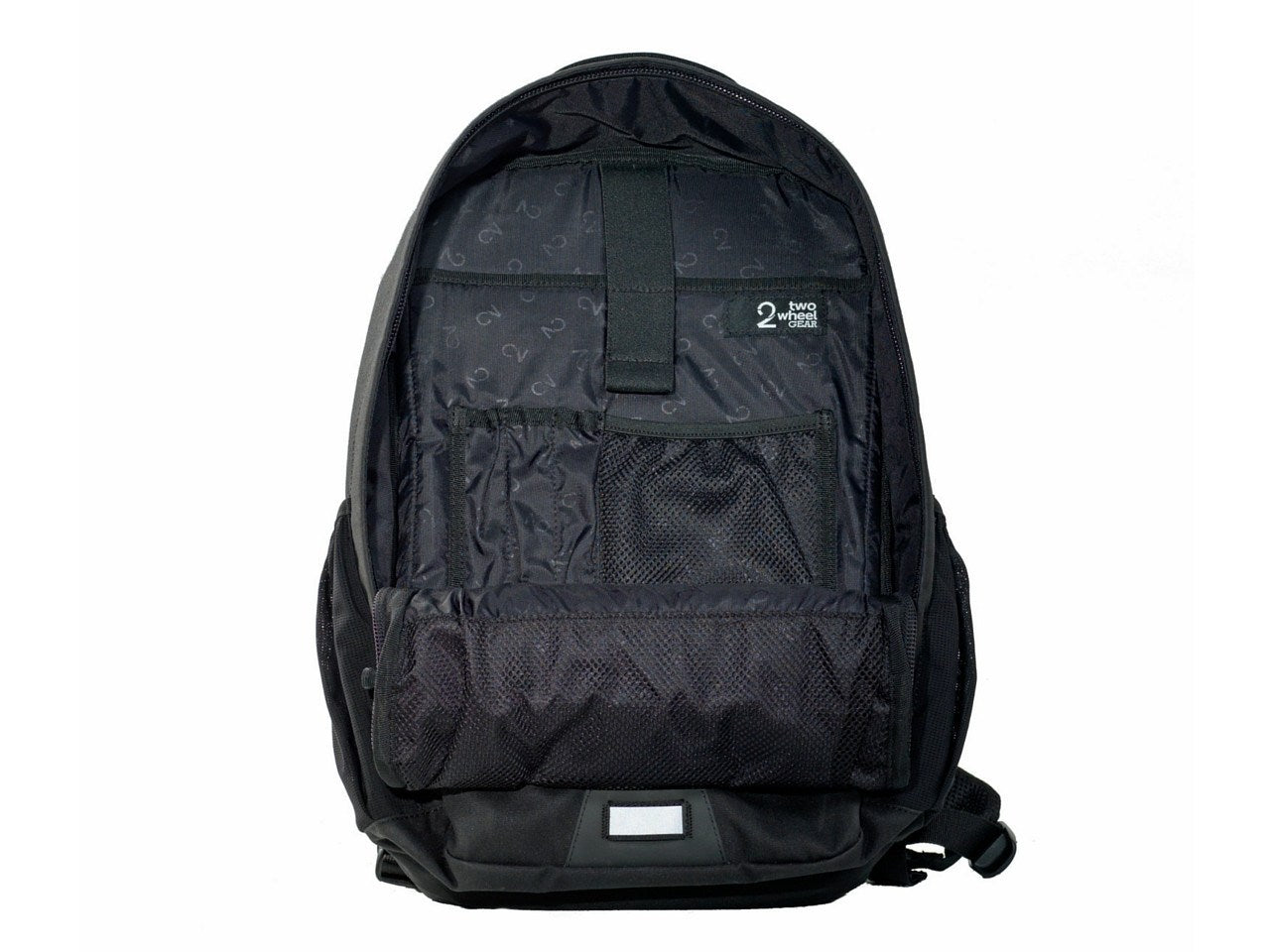 Pannier Backpack Convertible - Inside Open - Black Waxed Canvas
