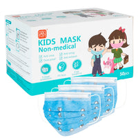 Kids Disposable 3 Ply Face Mask (Pack of 50) - Blue Print