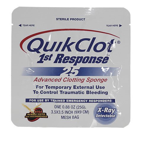 Voodoo Tactical QuikClot 1st Response (Box of 5) - Mad City Outdoor Gear
