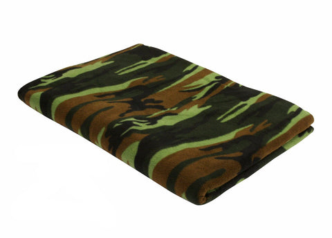 Rothco Fleece Woodland Camo Blanket