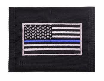 Rothco Thin Blue Line Flag Nylon Commando Wallet