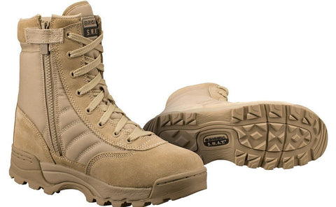 Original SWAT Classic 9 Tan Side-Zip Boots