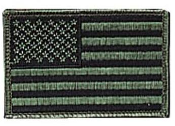 Rothco Iron On / Sew On Embroidered US Flag Patch