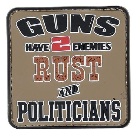Tru-Spec PVC Morale Patch Rust and Politicians