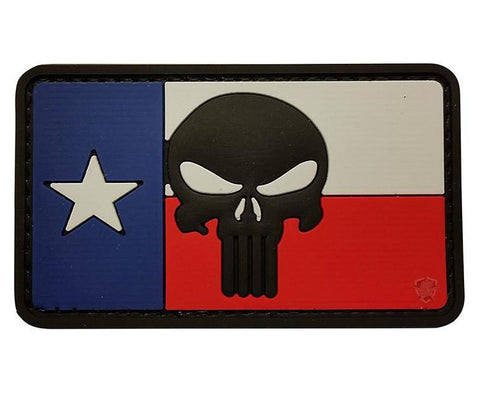 Tru-Spec Texas Flag Punisher Morale Patch