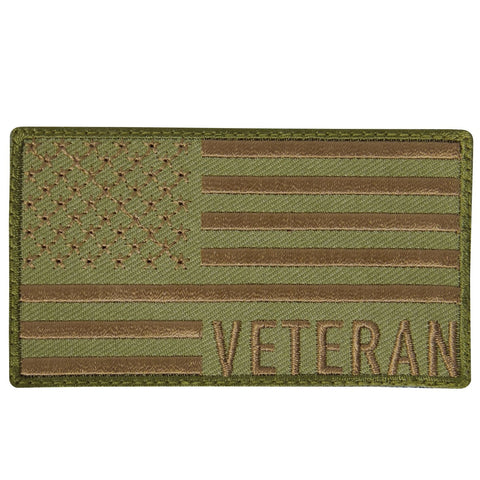 Rothco Veteran US Flag Patch - Coyote Brown