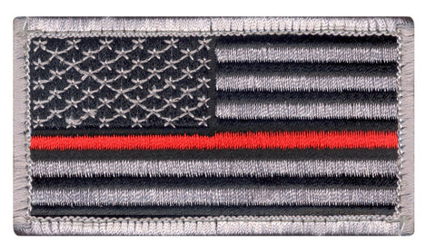 Rothco Thin Red Line US Flag Patch - Hook Back