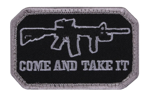 Rothco Come and Take It Morale Patch Black