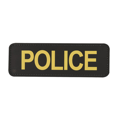 "Tru-Spec Police 6"" X 2"" Black & Gold Patch"