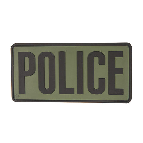 "Tru-Spec Police 6"" X 3"" Olive Drab & Black Patch"