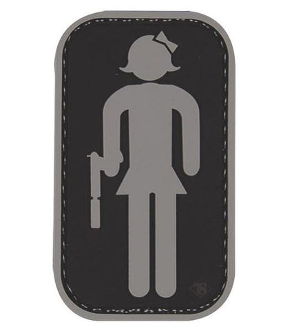 Tru-Spec Tactical RR Girl With Gun Morale Patch