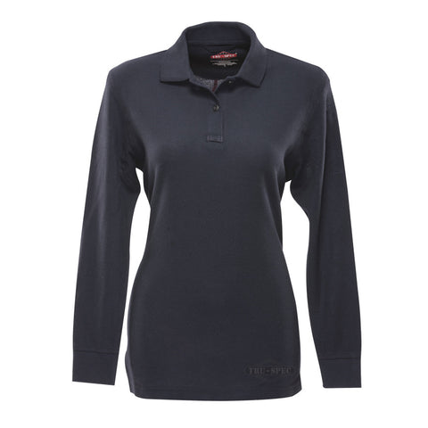 Tru-Spec 24-7 Series Ladies Long Sleeve Classic 100% Cotton Polo - Mad City Outdoor Gear