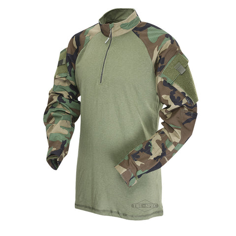 Tru-Spec 1/4 Zip Tactical Response Uniform Woodland Camo Combat Shirt sales for $65.95