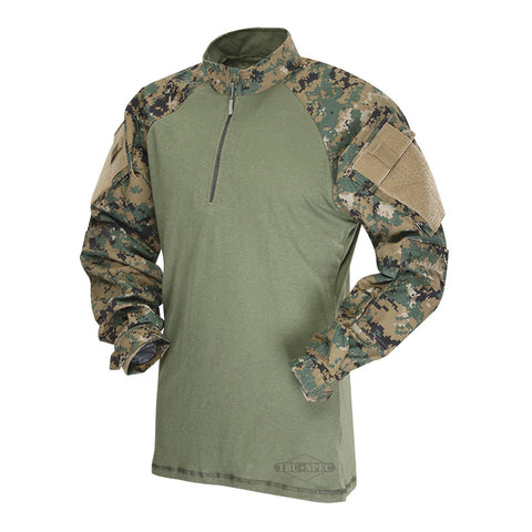 Tru-Spec 1/4 Zip Tactical Response Uniform Woodland Digital Combat Shirt (Poly/Cotton) sales for $61.95