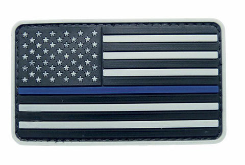 Tru-Spec USA Flag Grey with Thin Blue Line Morale Patch