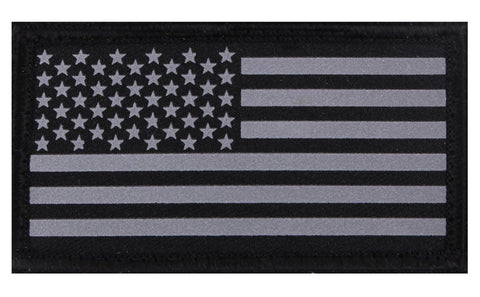 Rothco Reflective Flag Patch With Hook Back