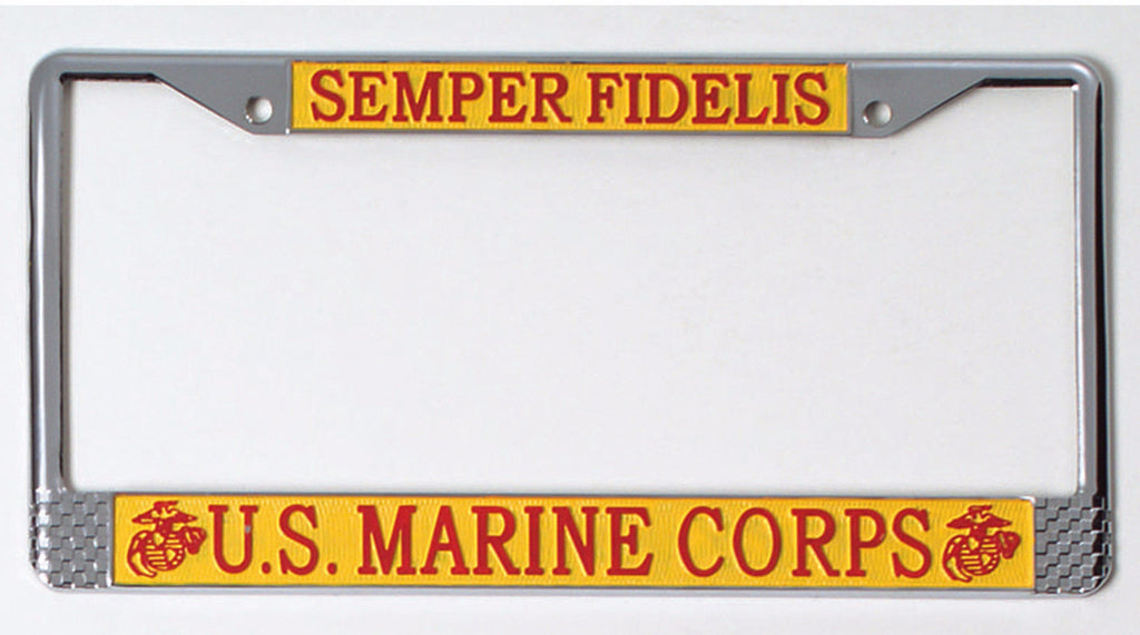 US Marines License Plate Frame in stock and ships for $14.53 – Mad ...