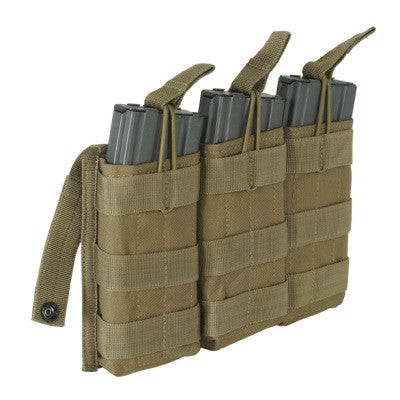 Voodoo Tactical M4/M16 Open Top Triple Mag Pouch with Bungee System