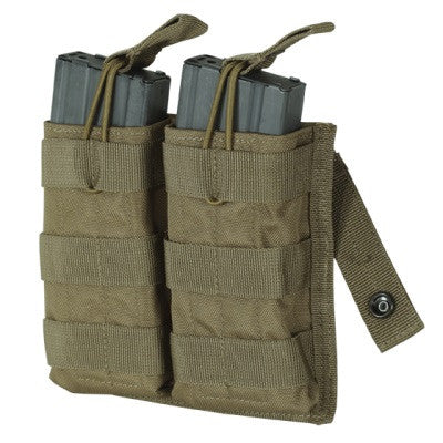 Voodoo Tactical M4/M16 Open Top Double Mag Pouch with Bungee System