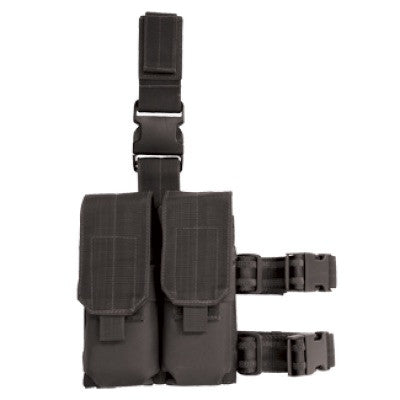 Voodoo Tactical Drop Leg Platform attached M4/M16 Double Mag Pouch - Mad City Outdoor Gear