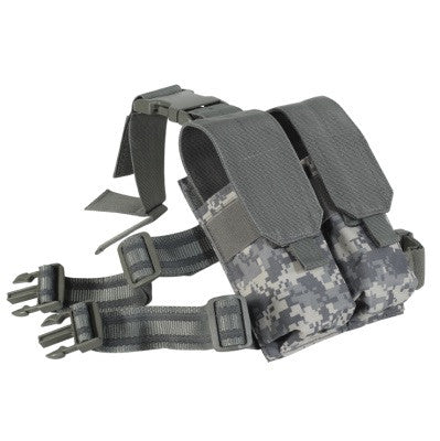 Voodoo Tactical Drop Leg Platform attached M4/M16 Double Mag Pouch