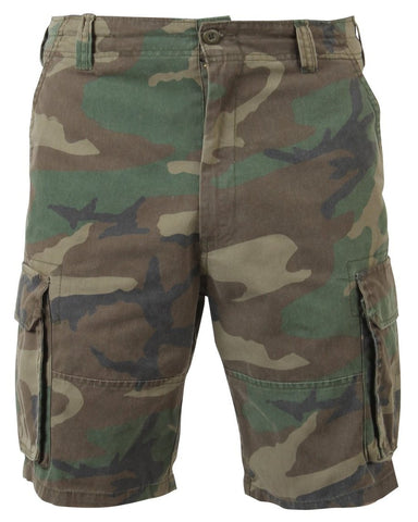Rothco Vintage Woodland Camo Paratrooper Cargo Shorts