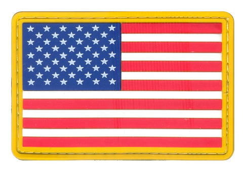 Rothco PVC US Flag Patch - Hook Back
