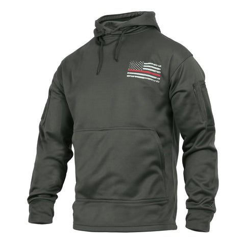 Rothco Thin Red Line Grey Concealed Carry Hoodie