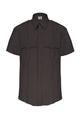 Elbeco TexTrop2 Men's Short Sleeve Uniform Shirt - Black