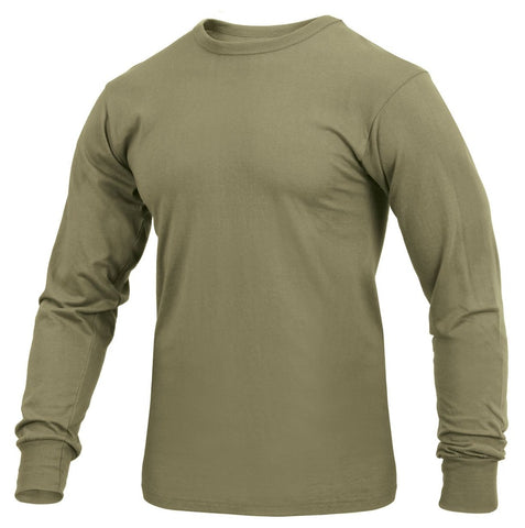 Rothco Long Sleeve Solid T-Shirt AR 670-1 Coyote Brown