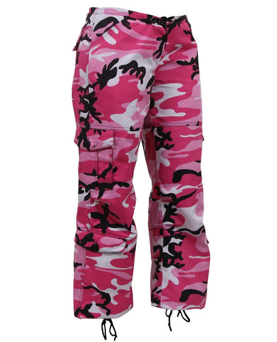 Rothco Womens Paratrooper Colored Pink Camo Fatigues
