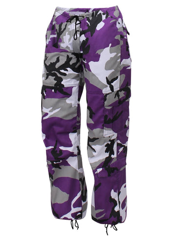 Rothco Womens Paratrooper Colored Ultra Violet Camo Fatigues