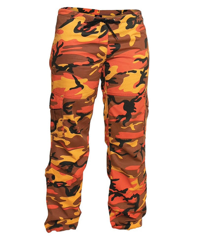 Rothco Womens Paratrooper Colored Camo Fatigues - Savage Orange