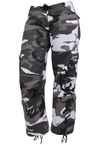 Rothco Womens Paratrooper Colored Camo Fatigues - City Camo